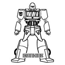 Iron Hide Of Transformers Color To Print Coloring Pages