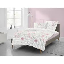 freundin biber bettwäsche freundin lilo rosa grau weiß