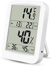 thermometer hygrometer digitales thermo hygrometer inne luftfeuchtigkeit temperatur mit min max records lcd display für schlafzimmer büro