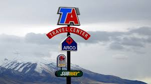 TravelCenters Plans TA Express Franchises | Transport Topics Truck Stops I Love Em Our Great American Adventure Semitrucks Filling Up With Mountains In The Background At Little Shorepower Technologies Locations Rearview The Heyday Of Mom And Pop Truck Usa Nevada Trucks Parking Lot Stop North America United Travelcenters Opens Retreading Facility Ohio Stops Near Me Trucker Path Stop Petro Shell Ta To Build Tional Lng Fueling Network Fleet Owner