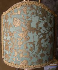 Lampe Berger Lamps Instructions by Venetian Lampshade In Rubelli Silk Jacquard Fabric Green And Gold