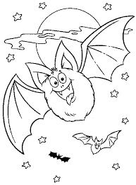 Bat Halloween Coloring Pages Halloween Coloring Pages For Kids