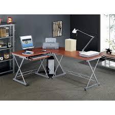 techni mobili rta 2212 m615 l shape computer desk in mahogany