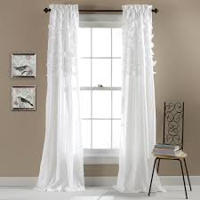 White Sheer Voile Curtains by Avery Window Curtain Set Of 2 Walmart Com