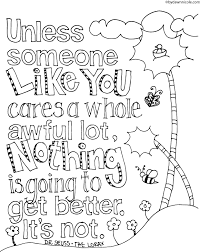 100 Free Coloring Pages For Adults And Children The Lorax Inspired Earth Day Page