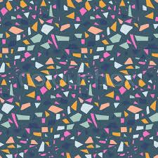 Terrazzo Tile Background Vector Pattern Design Dark Blue Mix Texture