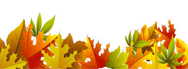 Decorative autumn leaves clipart
