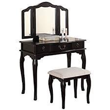 Vanity Mirror Dresser Set by Amazon Com Bobkona F4072 St Croix Collection Vanity Set With