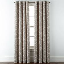 Jcpenney Silver Curtain Rods by Jcpenney Home Quinn Leaf Grommet Top Curtain Panel Jcpenney