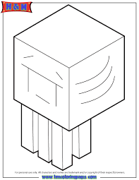 Ghast Crying Coloring Page