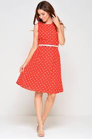 marc angelo zoe polka dot dress in red iclothing