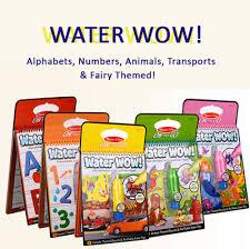 Melissa Doug WaterWOW Water Wow Magic Drawing Coloring Book Board