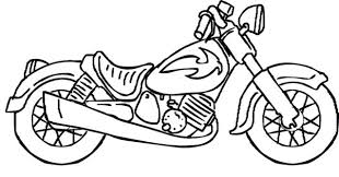 Motorcycle Coloring Pages Printable For Little Boy