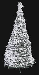 C 161200 4 Flocked Holly Pop Up Tree White Green 21 Width
