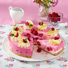 himbeer zitronen kuchen mit keksboden