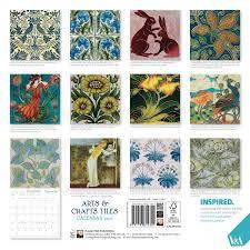 v a arts crafts tiles wall calendar 2016 calendar