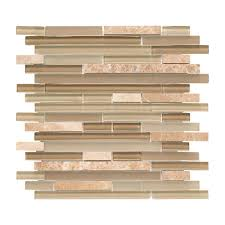 Jeffrey Court Mosaic Tile by Jeffrey Court Country Winds Pencil 12 In X 12 In X 8 Mm Glass