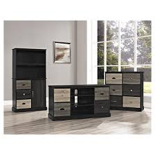montgomery 50 tv console black with multicolored door fronts