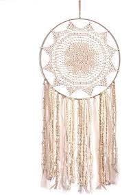 handgemachte traumfänger wandbehang mit spitze band feder quaste ton des meeres traditionelle catcher für schlafzimmer kinder jungen mädchen