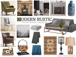 Vacation Rental Decorating Modern Rustic Living Room Ideas From Heelsinthefield Nbsp