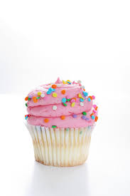 Download Yummy Vanilla Cupcake White Background Vertical Stock Image Image of background calories