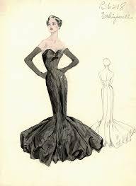 Schiaparelli Black Mermaid Dress