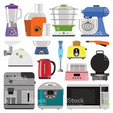 Kitchen Appliances Vector Royalty Free Stock Art Amp More Images