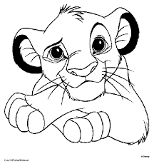 Simba Coloring Page Of Lion King Printable Pages