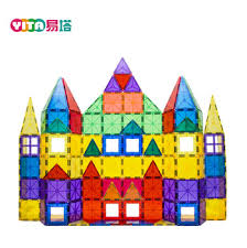 Valtech Magna Tiles Clear Colours 100 Pack by Pass Astm Clear Color Playmags 100 Piece Magnetic Blocks Abs