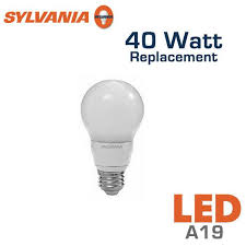 led a19 bulb 40 watt equal sylvania led7a19 79099 earthled