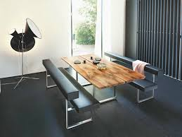 Inspiring Modern Dining Room Table With Bench Set Decoration