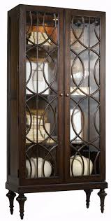 Pulaski Display Cabinet Vitrine by Mélange Adaira Display Cabinet With Concentric Circle Wood Trim By