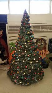 Clear Bulbs For Ceramic Christmas Tree by Refurbished Ceramic Christmas Tree Final Result After Spray