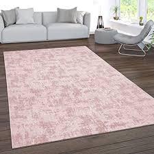 paco home teppich wohnzimmer kurzflor waschbar 3d effekt modernes orientalisches muster grösse 80x150 cm farbe rosa