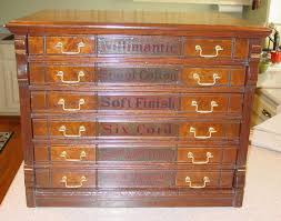 6 drawer willimantic spool cabinet with owl and raised panels from