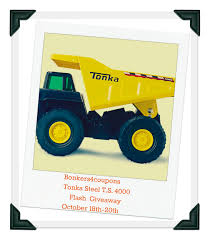 Tonka Steel T.S. 4000 Dump Truck Flash Giveaway - SUNSHINE AND FLIP ...