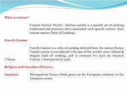 classical cuisine cuisine an view