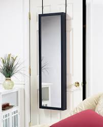 Mirrored Jewelry Box Armoire by Amazon Com Plaza Astoria Wall Door Mount Jewelry Armoire Black