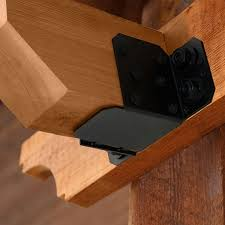 Black Decorative Joist Hangers by 6 8 U2033 Beam Hanger Flush U2013 Ironwood Deck Shoppe