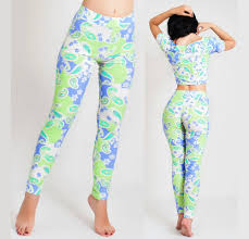 floral leggings yoga pants pastel colours high waisted