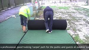 Best Outdoor Carpeting For Decks by Grass Carpet Sale And Hire Installation Example Youtube
