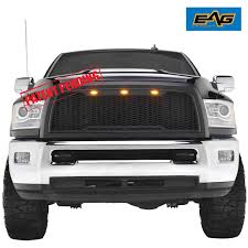 Amazon.com: EAG Replacement ABS Grille - Matte Black - With Amber ...
