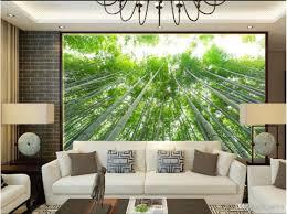 100 Bamboo Walls 3d Room Wallpaper Cloth Custom Photo Fresh Green Forest