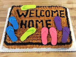 Welcome Mat House Warming Cake