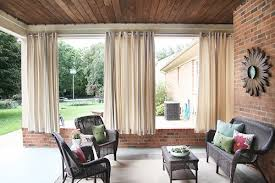 roundup gorgeous outdoor curtain ideas and tutorials curbly
