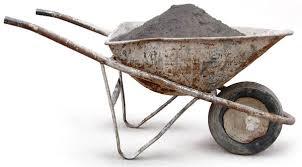 Draw a FBD for a wheelbarrow full of dirt
