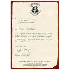 Acceptance Letter Hogwarts
