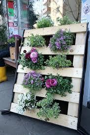 Pallet Garden Vertical Wooden Flowers Decoration Ideas Table Plans