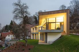100 Unique House Architecture Storey Home Steep Slope Grass Roofed Garage Exterior A