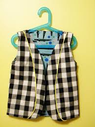 fresh off the bolt reversible piped vest for boys and free pattern